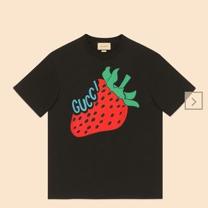 Gucci 19stainless Steel Strawberry Print T-shirt